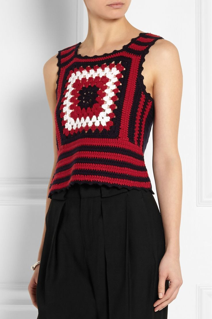 Miu Miu   Crocheted cashmere top   NET-A-PORTER.COM