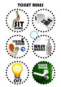 Kostenloser Download: Kloplakat | Leben mit Kindern #freebie #download #toilette #kloplakat