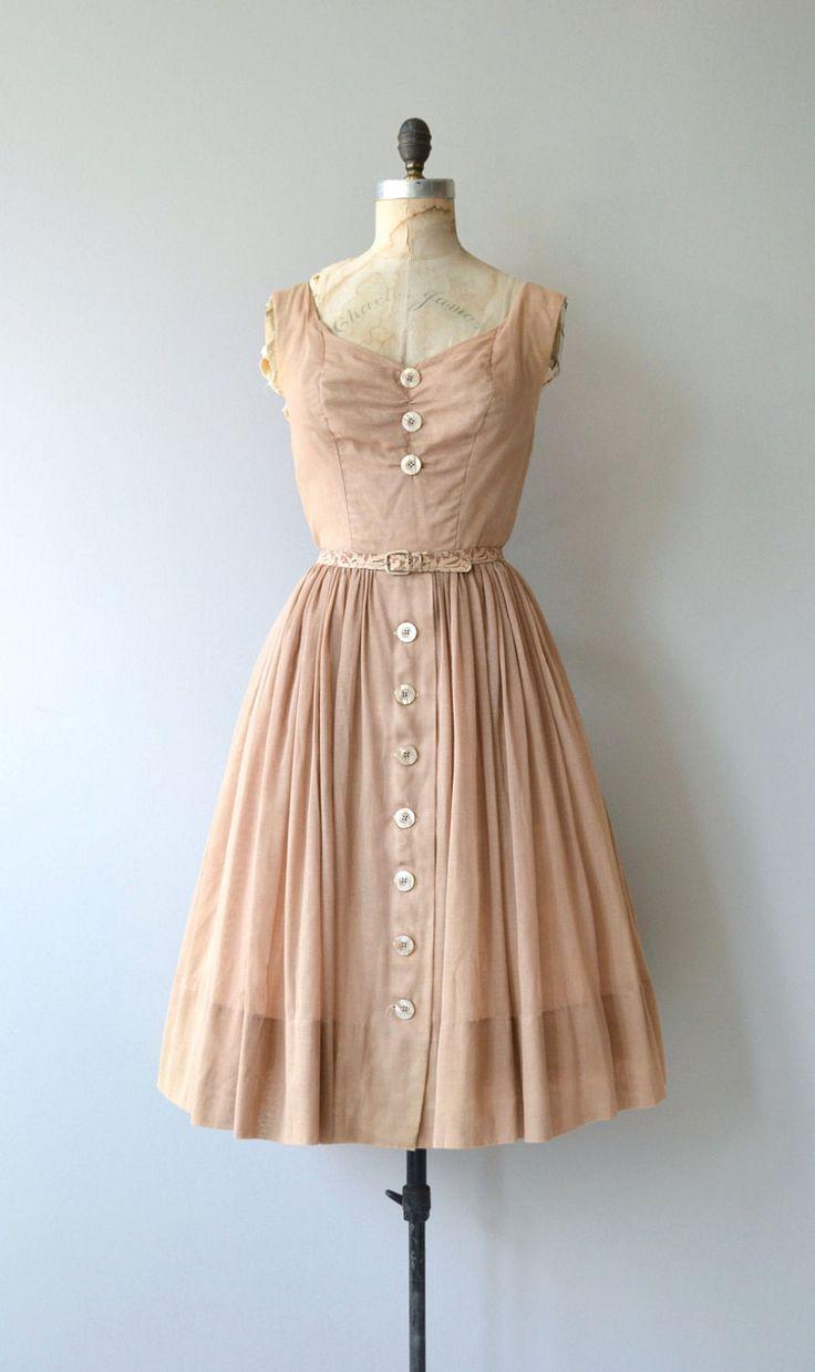 1950;s Cotton Blush Color Dress