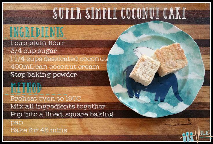 Simple coconut cake   #cake #lunchboxideas