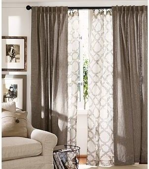Love the look of sheer curtains but want more power to control the light? Then hang both! Focus on creating a contrast - with your colour choice and curtain texture