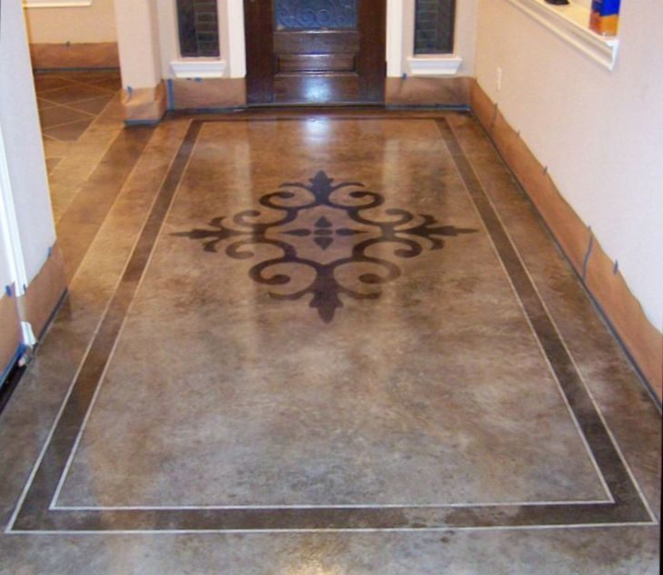 How To Stain Your Concrete Floor Page 5 Of 6 Floors Pinterest Stained And Flooring