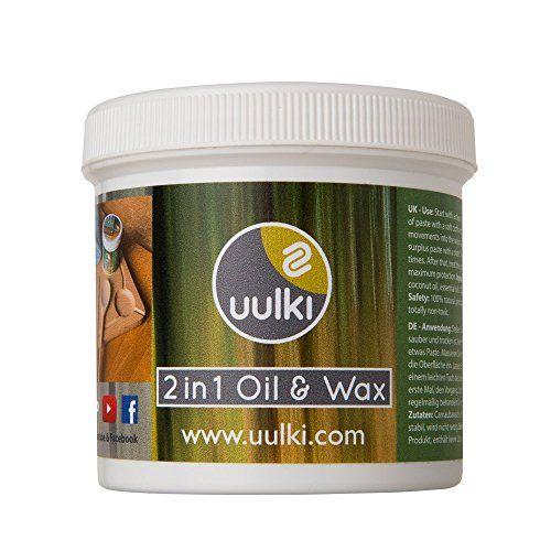 Uulki® Natürliche Holzpflege   2 In 1 Holzwachs U0026 Holzöl Für  Schneidebretter, Küchenhelfer,