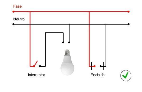 Conexión Residencial De Una Lampara Un Interruptor Y Un Toma Corriente Conexiones Electricas Toma De Corriente Electricidad Y Electronica