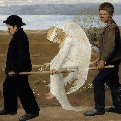 Hugo Simberg / Haavoittunut Enkeli  (the wounded angel) 1903
