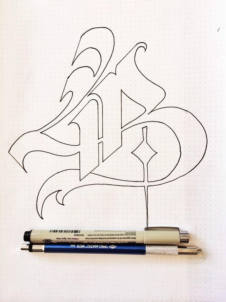 "hugoontopoftheworld: ""Update on my B. Cleaner. Next step vectorize. Hope you like it! #calligraphy #practice #scribebynight.com """
