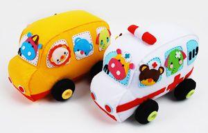 Super cute felt vehicles