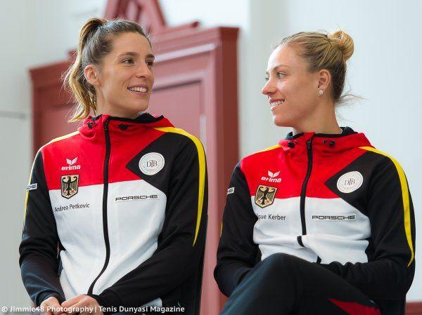 Andrea Petkovic & Angelique Kerber via Jimmie48 Photography (@JJlovesTennis) | Twitter