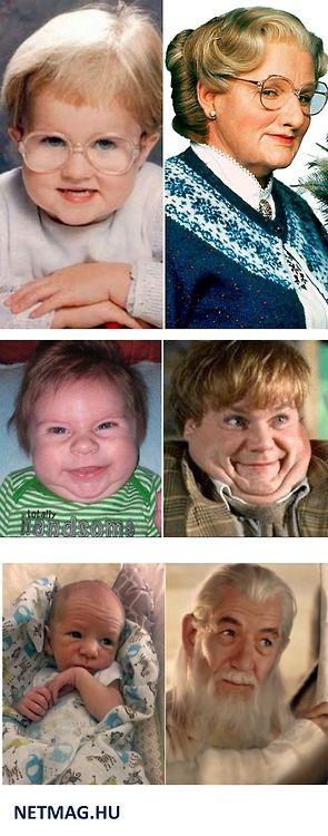 Babák, akik hasonlítanak valakire. #vicces