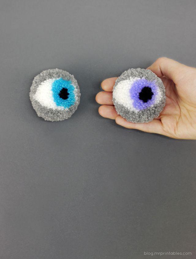 Eye Pompoms   Mr Printables.com
