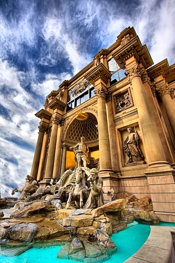 ~Entrance to Forum Shops which is connected to Caesars Palace Hotel, Las Vegas | House of Beccaria