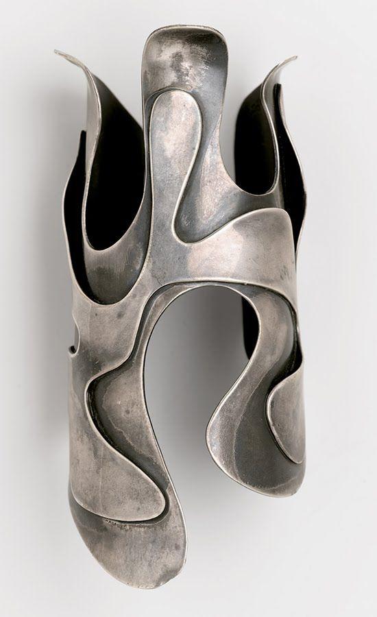 Organic Paul Poiret/ Raoul Dufy Silver Bracelet/ CuffPrimavera Gallery NY