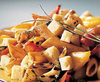 Tre Stelle® Havarti and Grilled Vegetable Pasta Salad #salad #havarti
