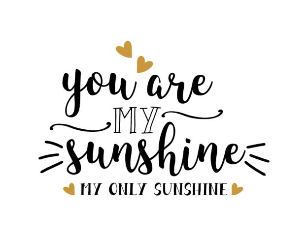 Free svg files - You are my sunshine my only sunshine