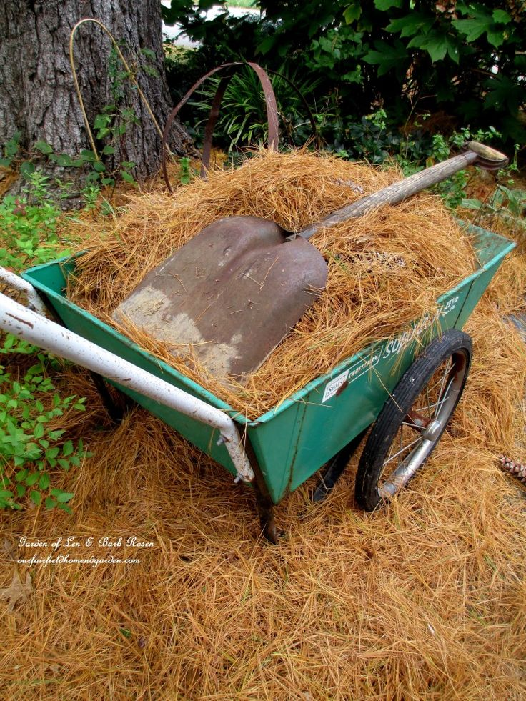 Pine Straw & Leaves make great free mulch for your flower beds and build your soil! (Garden of Len & Barb Rosen) http://ourfairfieldhomeandgarden.com/diy-tucking-the-garden-in-for-the-winter-at-our-fairfield-home-garden/