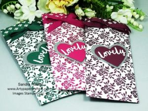 Lovely Inside and Out Sachets for Facial Masks, Fragranced Wardrobe Sachets and Gift Cards. Artypapercrafters.com