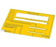 Formatschablone Brief Inland Deutsche Post - 4,95 € + Porto