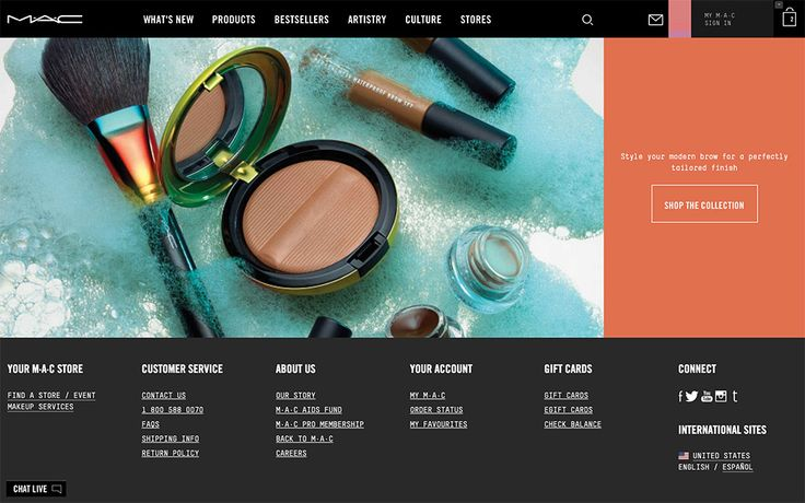 A sneak peek at one of the new MAC website LE collection pages.