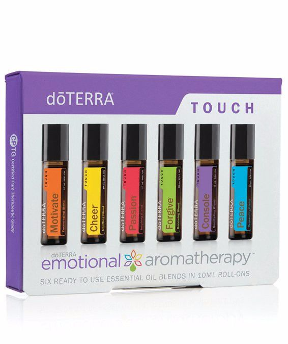 Description The doTERRA Emotional Aromatherapy Touch line contains six unique essential oil blends combined with Fractionated Coconut Oil in 10 mL Roll-Ons for convenient and gentle topical applicatio