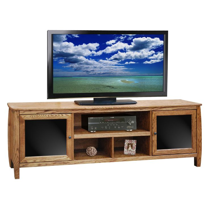 Legends Curve 76 In. TV Console   Golden Oak   TV Stands At Hayneedle
