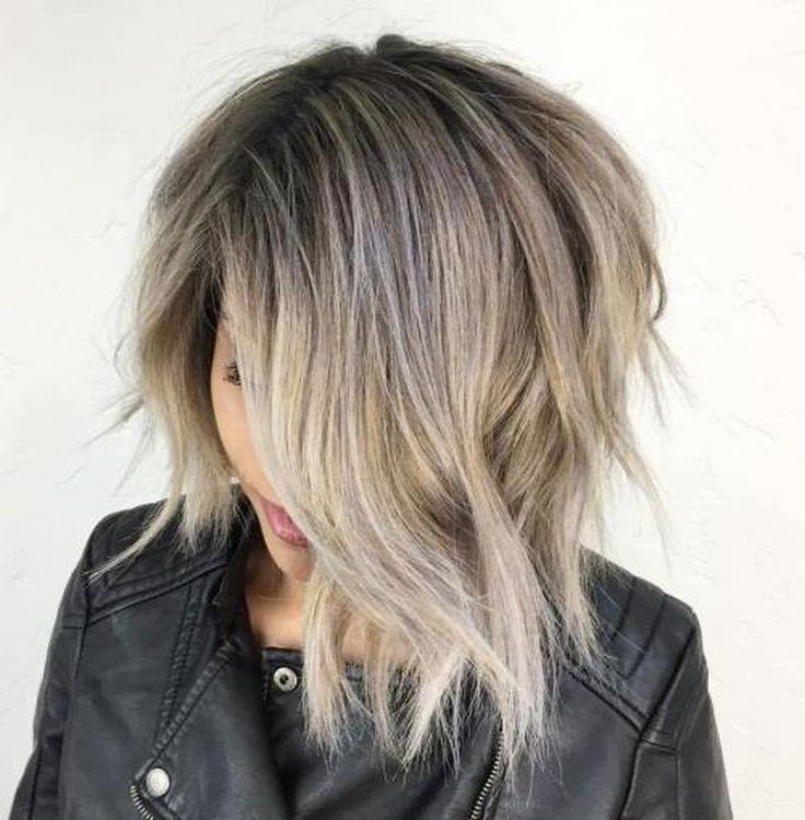 Short asymmetrical bobs hairstyle haircut 40