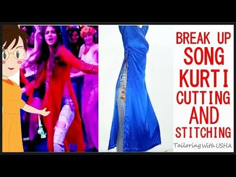 c4c9a2f5030 DIY Princess Cut Double Front slit Kurti Dress Cutting And Stitching  Tutorials - YouTube