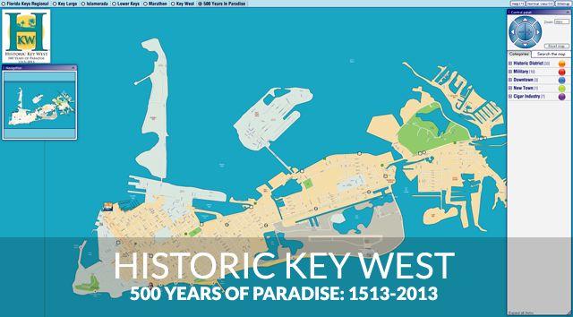 Historic Key West map
