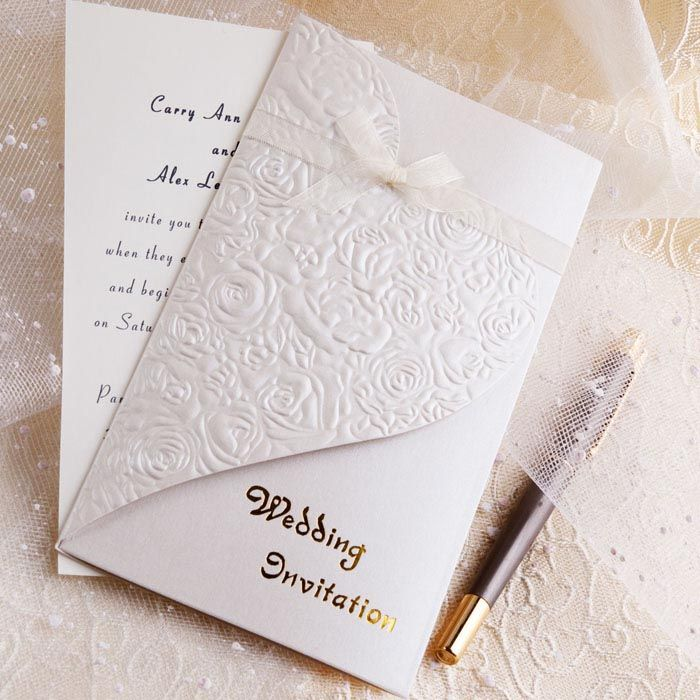 Invitations Cheap Wedding: 27 Best Images About White Wedding Invitations On