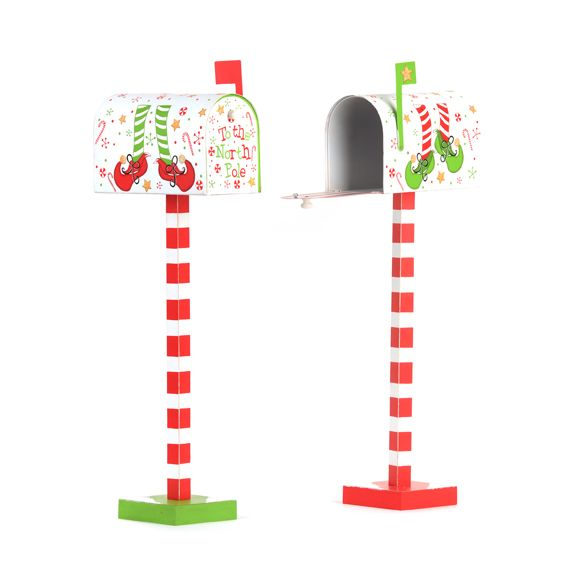 "North Pole mailbox- I think this would be such a cute idea for kids to ""send"" their letters to Santa! :)"