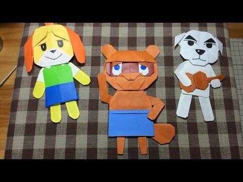 【おりがみ】たぬきちのつくりかた実況! どうぶつの森ハッピーホームデザイナー How to make Origami tom nook animal crossing happy home desig - YouTube