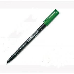 Rotulador permanente STAEDTLER LUMOCOLOR VERDE (0,6 mm.)