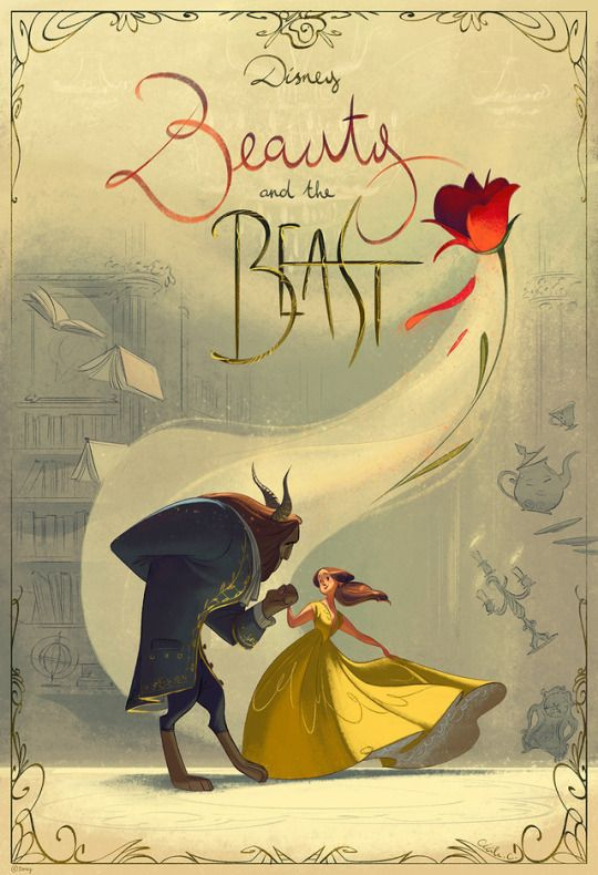 """This is a piece I did for the Gallery Nucleus exhibition """"An Art Tribute to Disney's Beauty and the Beast"""" ( see all contributions HERE !)"""