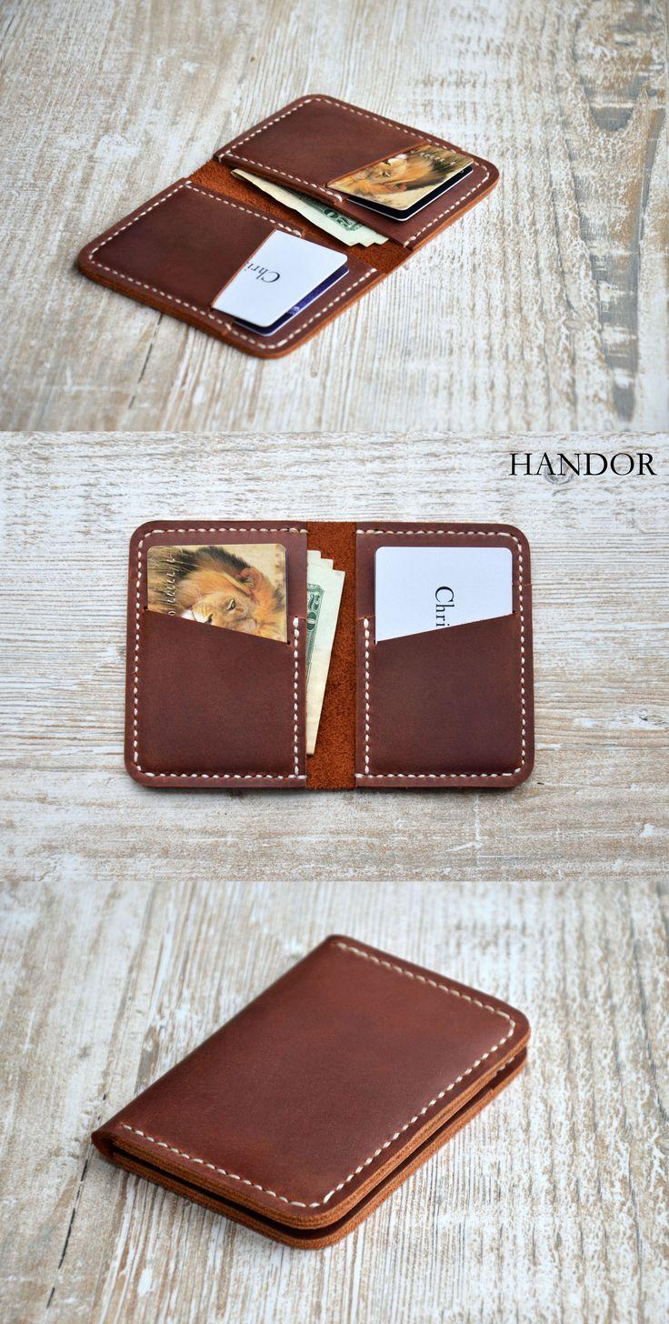 #lwallet #leather #mens Mens wallet, Wallets for men - Front Pocket Design-Minimalist Handmade Leather Credit Credit Card Wallet, leather wallets, handmade wallet