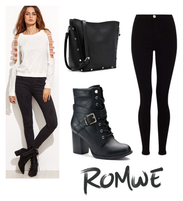 """romwe"" by geopaganeli on Polyvore featuring Lipsy and Apt. 9"