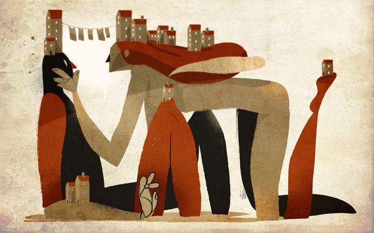 Two Worlds; Wallpaper illustration for Triton Lovers week. - Illustrazione digitale {Riccardo Guasco}