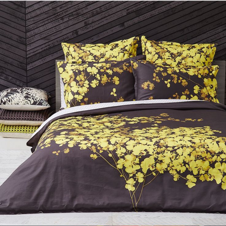 Bloom Gold 3-Piece Quilt Cover Set - LUXOTIC