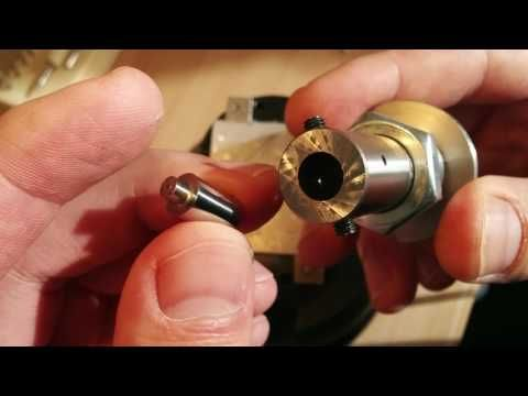 My engraving cup runeth over :) Hand piece for the homemade hand engraving machine. - YouTube