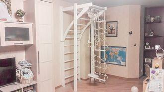 Купить деревянный спортивный комплекс для дома в Москве - Братья по дереву