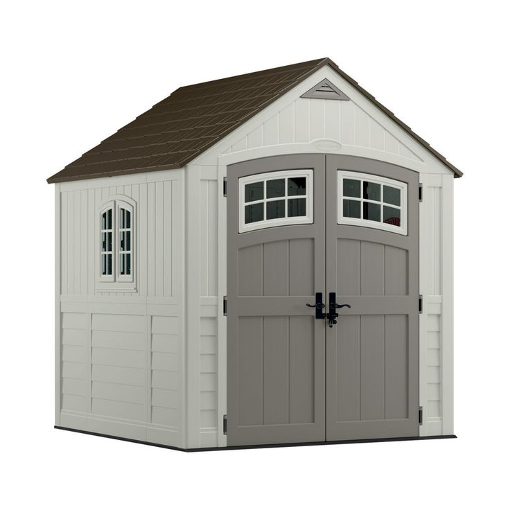 Suncast 7ft x 7ft Resin Walk-In Shed (BMS7790) - Storage Sheds & Deck Boxes - Ace Hardware