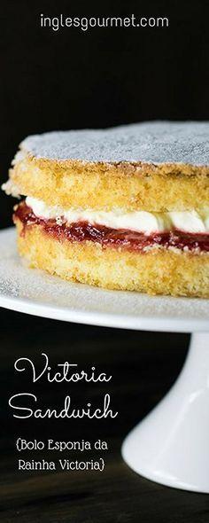 Receita de Victoria Sandwich {Bolo Esponja da Rainha Victoria} | Inglês Gourmet