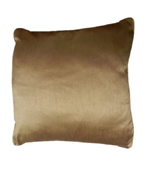 Faux Silk Brown Cushion Cover – Linen and Bedding