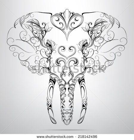 25 Trending Elephant Head Drawing Ideas On Pinterest