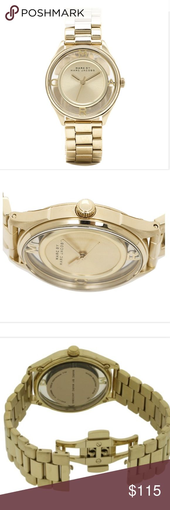 Marc By Marc Jacobs women's see through watch Beautiful Tether teaser bracelet watch MBM3413 , face size 3.6 cmx 3.6cm x thickness 1cm , this watch is also water resistant up to 5 ATM. New with all original packaging. Reasonable offers only and no trades please. 💯authentic. Marc by Marc Jacobs Accessories Watches
