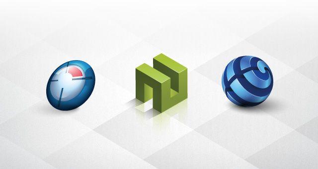 3D Logo Templates Set 02