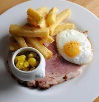 Josh Eggleton's ham, egg and chips with picallili