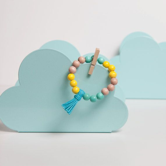 CANDY Girls Colour Block Tassel Bracelet -Yellow, Pink and Turquoise