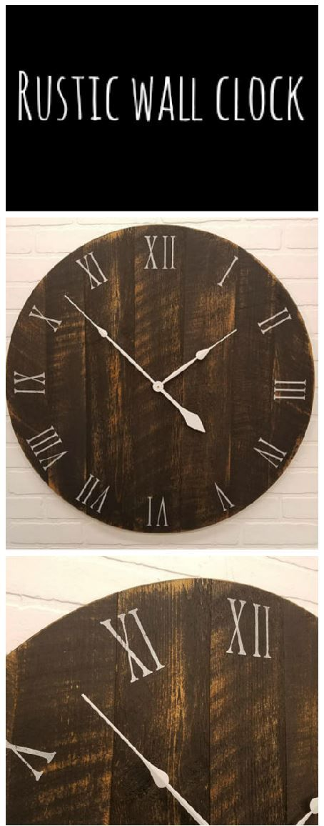 Best 25 Rustic Wall Clocks Ideas On Pinterest Large