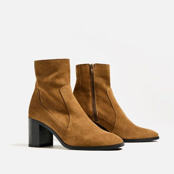 Image 4 of LEATHER HIGH HEEL ANKLE BOOTS from Zara