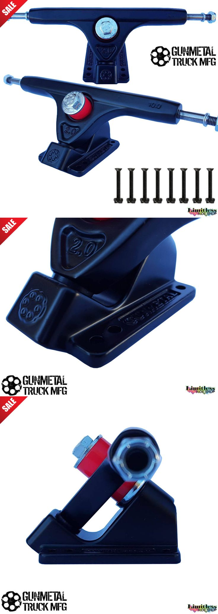 Trucks 165945: Gunmetal Skateboard Longboard Trucks 9 159Mm Set Black 50 Degree New Reverse -> BUY IT NOW ONLY: $34.99 on eBay!