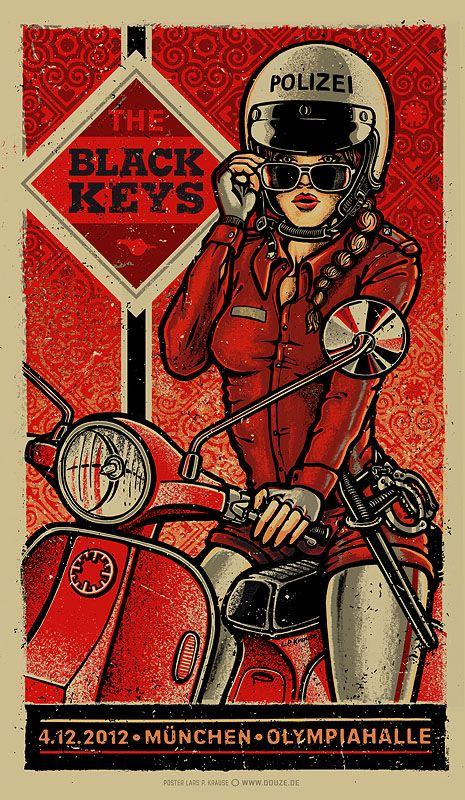 INSIDE THE ROCK POSTER FRAME BLOG: The Black Keys Munich & Dusseldorf Posters by Lars P Krause World Premier Exclusive